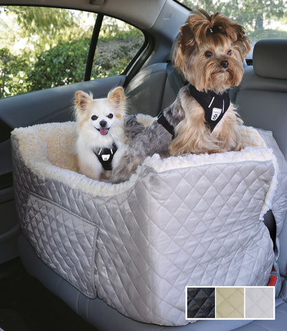 Dog Car Seat Quilted Nylon Large