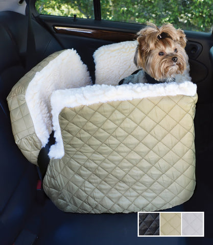 Dog Car Seat Quilted Nylon Medium