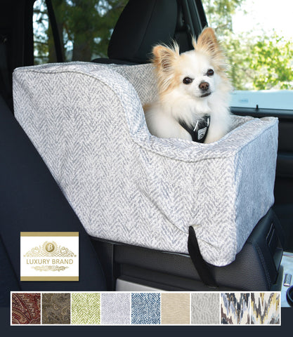 Luxury Microsuede XL Hi-Back Console - Palmer Dove in Car