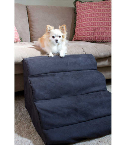 Snoozer dog ramp small black with dog