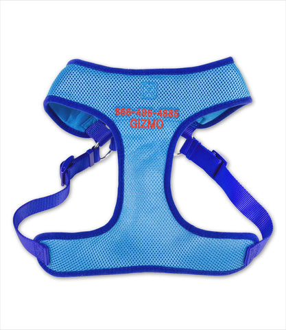 Dog Harness - Comfort Wrap Blue Personalized