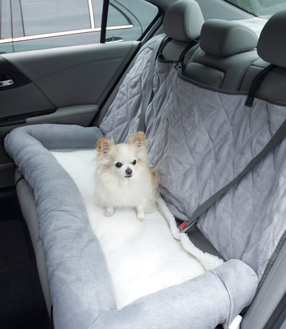 Dog Car Cuddler Seat Protector - Large Grey