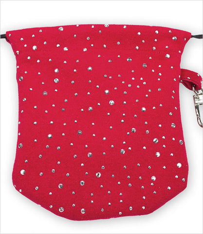 Red Stardust Ultrasuede Travel Pouch