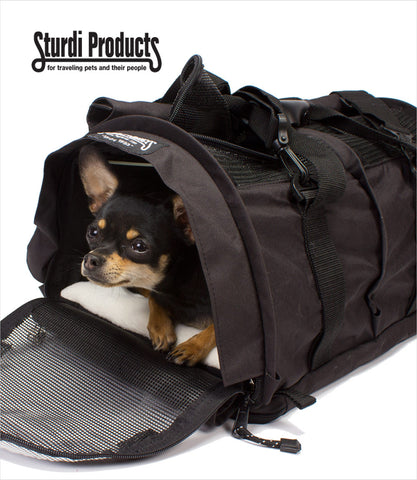 Large Black SturdiBag Carrier Chihuahua