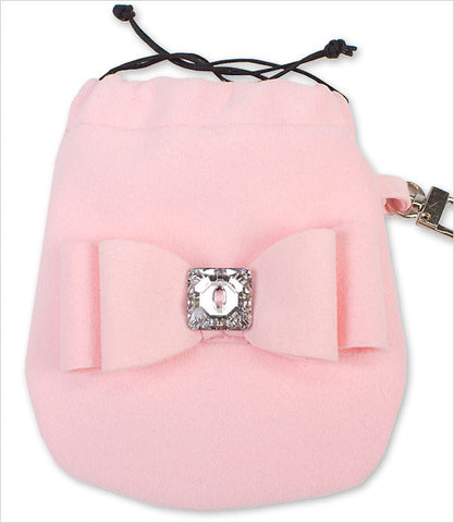 Pink Big Bow Ultrasuede Travel Pouch