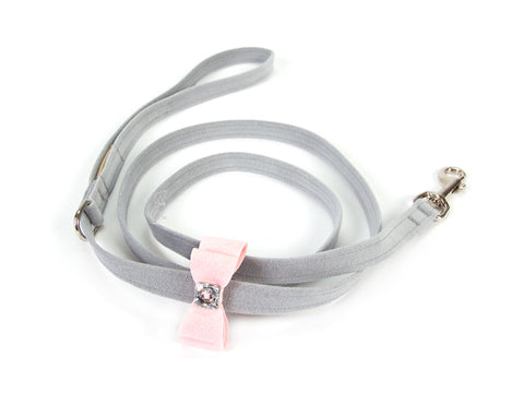 Big Bow dog leash two-tone Platinum color