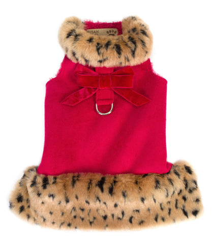 Susan Lanci Red Leopard Dog Jacket