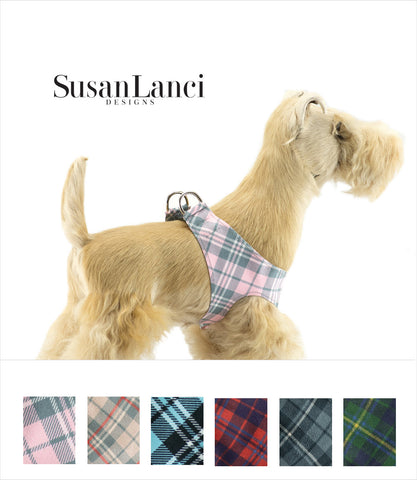Susan Lanci Scotty Plaid Step-In Dog Harness