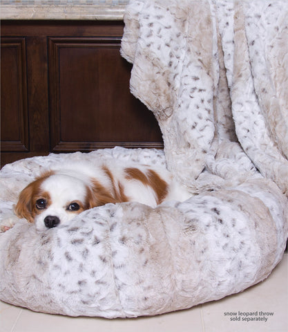 Susan Lanci Snow Leopard Dog Bed