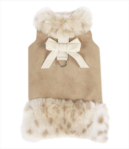 Susan Lanci Camel Muff Dog Harness Jacket