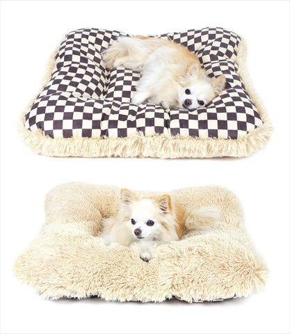Susan-Lanci-Windsor-Check-Tan-Dog-Pillow-Bed