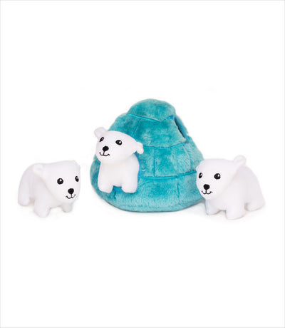 Interactive Dog Toy by Zippy Paws - Polar Bear and Igloo