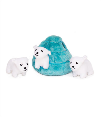Zippy Paws Polar Bear Igloo Dog Toy