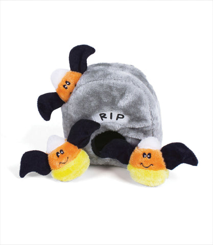 Tombstone Halloween Zippy Burrow Dog Toy
