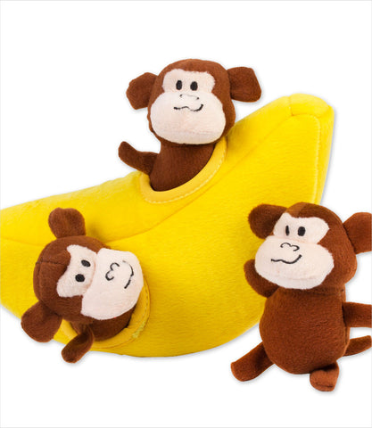 Zippy Burrow Dog Toy - Monkey and Banana