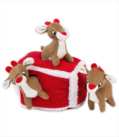 Reindeer and Pen Dog Toy - Zippy Burrow