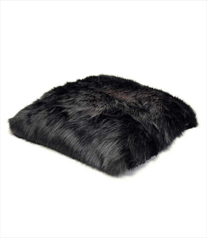 Arctic Faux Fur Dog Bed - Onyx