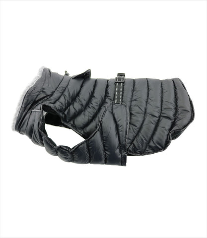 Black Puffer Coat for Small Dogs
