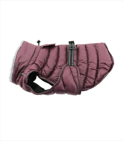 Burgundy Puffer Coat for Small Dogs