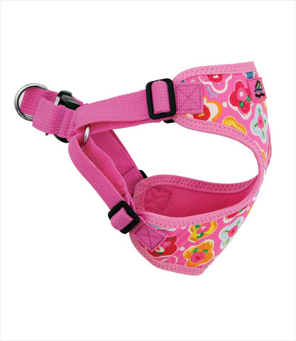 Maui Pink Wrap and Snap Harness on Yorkie