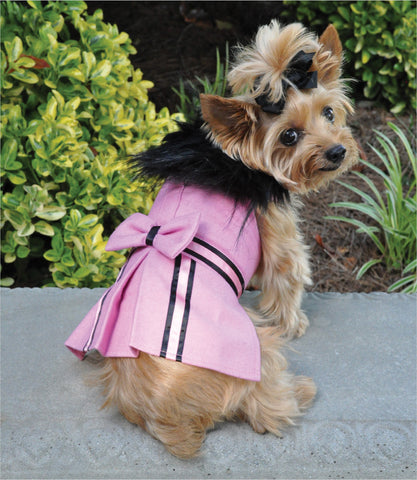 Pink Wool Coat for small dogs