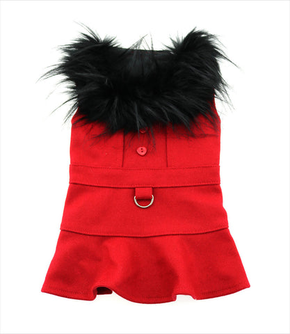 Red Wool Coat for small dogs