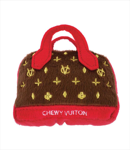 Chewy Vuiton Posh Purse Dog Toy