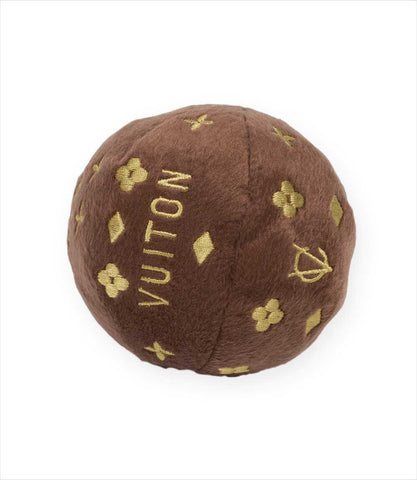 Chewy Vuiton Plush Squeak Ball Toys