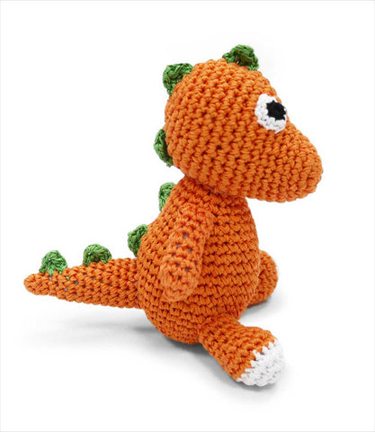 Dinosaur Crochet Toy for Small Dogs