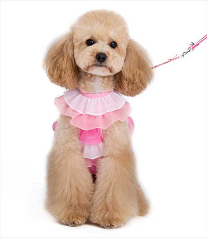 Multi Ruffle Pink EASYGO Dog Harness