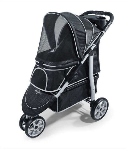 Gen7Pets Monaco Pet Stroller in Black Geometric