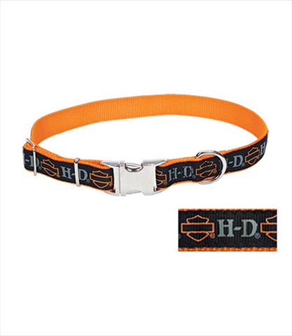 Harley-Davidson branded dog collar