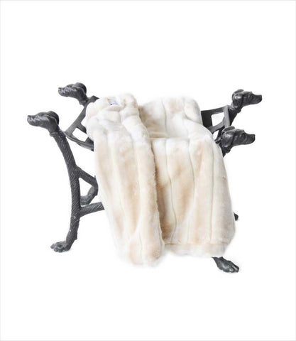 Faux Fur Dog Carrier Blanket in Cream Luxe