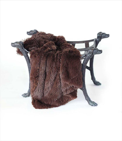 Luxury Shag Throw Blanket in Chocolate
