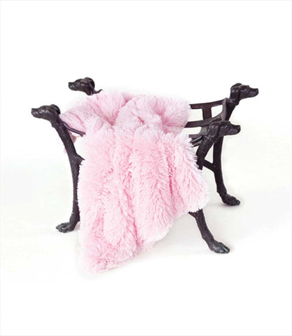 Luxury Shag Small Dog Blanket in Pink Shag
