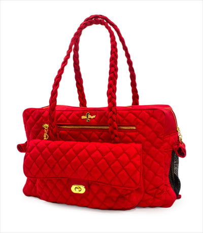 Porsha Small Dog Carrier in Red