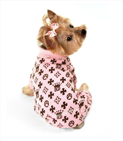 Pink HD Crown Jumpsuit for dogs