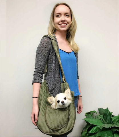 Pet Flys Private Stripes Sling with Dog
