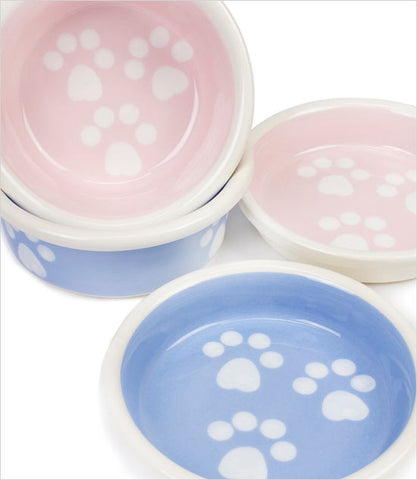 Paw Print Dog Bowl Group