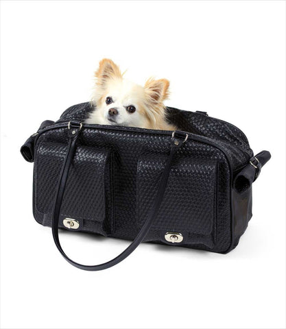 Marlee Black Woven Small Dog Carrier