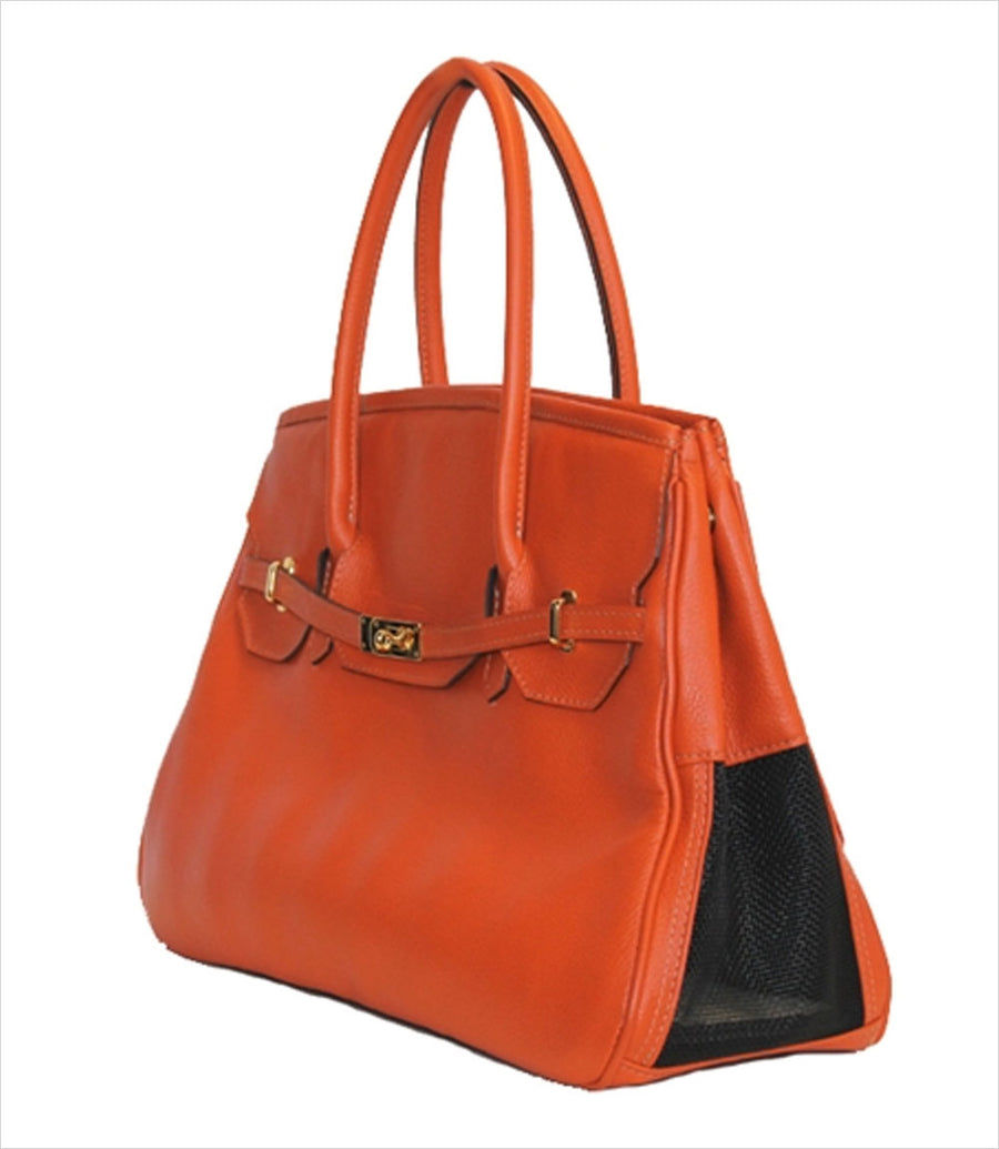 Katie Collection Dog Carrier - Tangerine