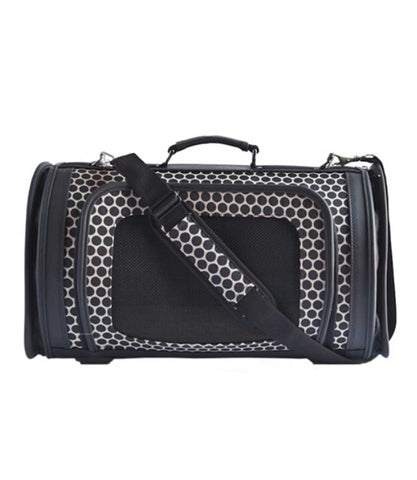 Reverse Noir Dots Kelle Dog Carrier