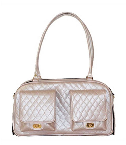 Marlee Collection Dog Carrier - Pink Quilted