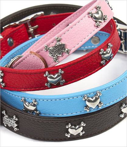 Heart Rivet Dog Collar Group
