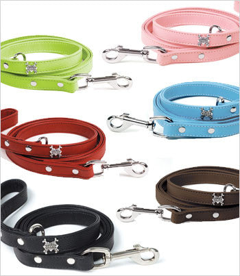 Rockin Doggie Leather Dog Leash