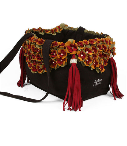 Autumn Tinkies Garden Luxury Pet Carrier by Susan Lanci