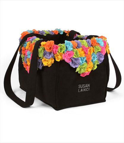 Black Classic Tinkies Garden Luxury Carrier by Susan Lanci