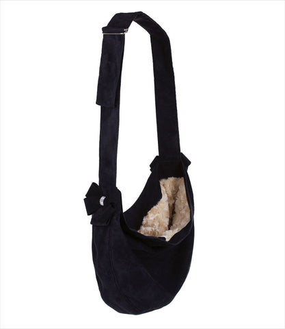 Black Nouveau Bow Cuddle Carrier