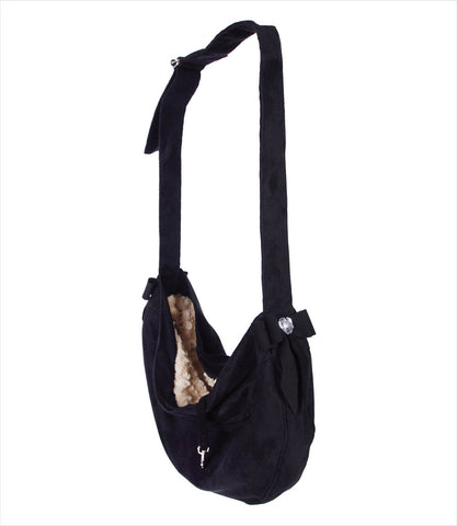 Black Tail Bow Heart Cuddle Carrier