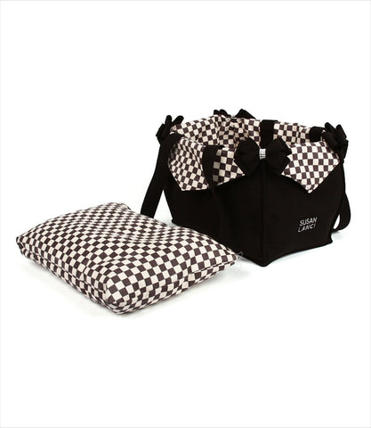 Black Windsor Check Luxury Dog Carrier